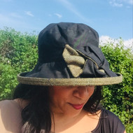Georgia Large Brim in Black - Direct from the designer, Peak and Brim Designer Hats