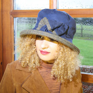 Georgia Large Brim in Navy - Direct from the designer, Peak and Brim Designer Hats