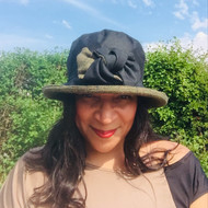 Georgia Small Brim in Black - Direct from the designer, Peak and Brim Designer Hats