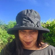 Geraldine Large Brim in Black - Direct from the designer, Peak and Brim Designer Hats