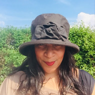 Geraldine Large Brim in Brown - Direct from the designer, Peak and Brim Designer Hats