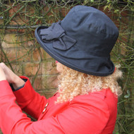 Geraldine Large Brim in Navy - Direct from the designer, Peak and Brim Designer Hats