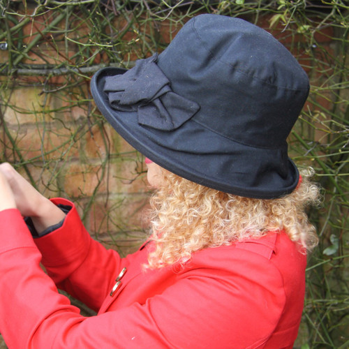 Geraldine Large Brim in Navy - Direct from the designer, Peak and Brim Designer Hats