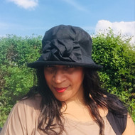 Geraldine Small Brim in Black - Direct from the designer, Peak and Brim Designer Hats