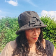 Geraldine Small Brim in Brown - Direct from the designer, Peak and Brim Designer Hats