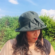 Geraldine Small Brim in Green - Direct from the designer, Peak and Brim Designer Hats