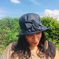 Geraldine Small Brim in Navy - Direct from the designer, Peak and Brim Designer Hats