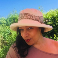 Alison Medium Brim Floral in Vintage Green - Direct from the designer, Peak and Brim Designer Hats