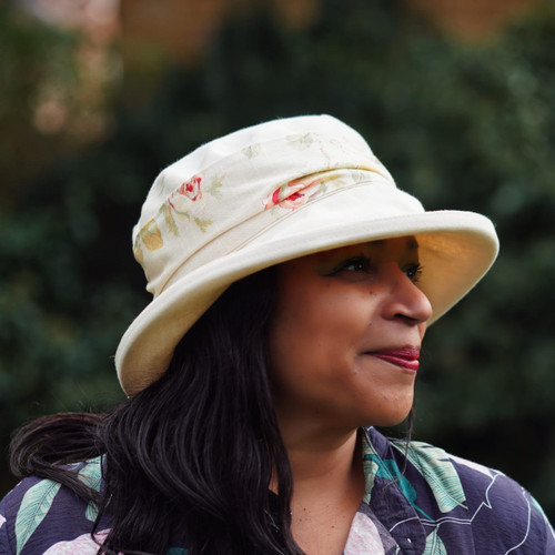 Alison Medium Brim Floral Light - Direct from the designer, Peak and Brim Designer Hats