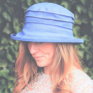 CBFA Small Brim in Pale Blue - Direct from the designer, Peak and Brim Designer Hats