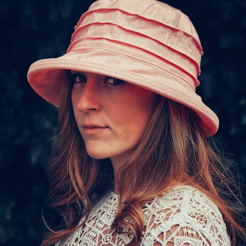 CBFA Small Brim in Pale Pink - Direct from the designer, Peak and Brim Designer Hats