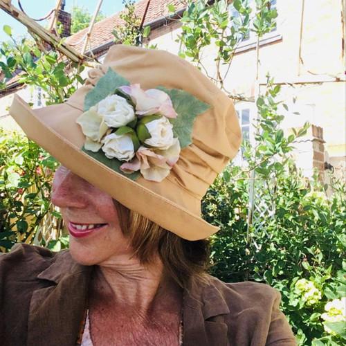 Charity Rose Medium Brim Salmon - Direct from the designer, Peak and Brim Designer Hats
