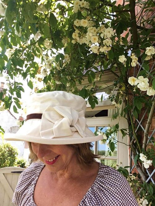 Elly Medium Brim Cotton - Direct from the designer, Peak and Brim Designer Hats