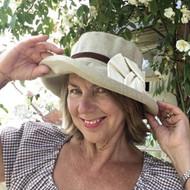 Elly Medium Brim in Linen - Direct from Peak and Brim Designer hats