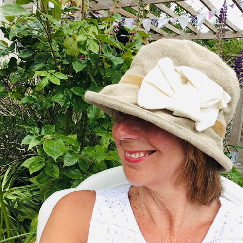 Elly Small Brim Linen - Direct from the designer, Peak and Brim Designer Hats