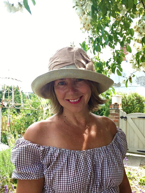 Josephine Bow in Salmon - Direct from the designer, Peak and Brim Designer Hats