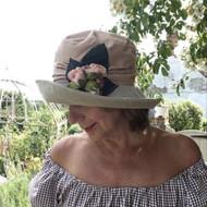Josephine Rose in Salmon - Direct from the designer, Peak and Brim Designer Hats