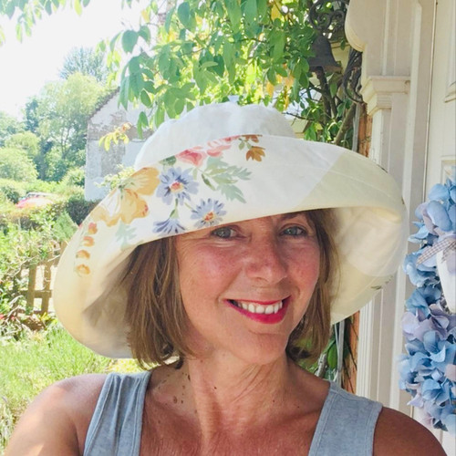 Molly May - Floral Cream , Direct from the designer, Peak and Brim Designer Hats