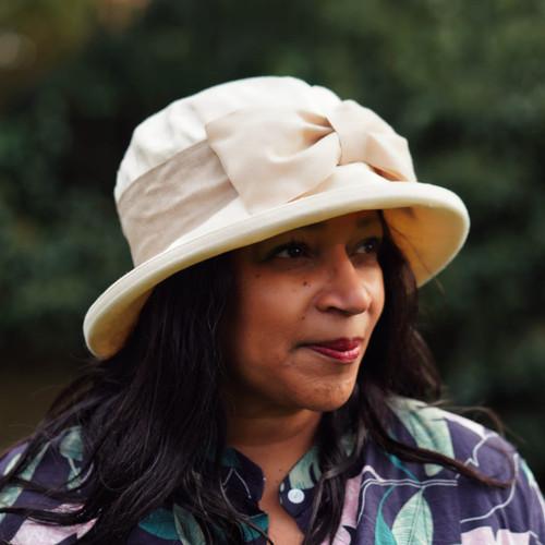 Olivia - MB (Cotton) Beige , Direct from the designer, Peak and Brim Designer Hats