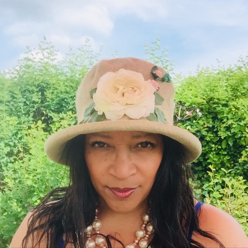Summer Rose (SB) Linen - Vintage White Flower, Direct from the designer, Peak and Brim Designer Hats, Direct from the designer, Peak and Brim Designer Hats