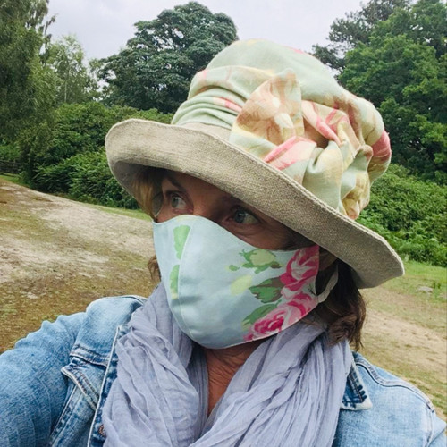 Reversible Face Mask in  Taupe & Duck, direct from the designer Peak and Brim Hats