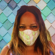 Face Mask in  Lime Green, direct from the designer Peak and Brim Hats