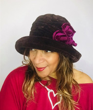 Antoinette (Brown & Burgundy), direct from the designer Peak and Brim Hats