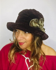 Antoinette (Brown & Brown), direct from the designer Peak and Brim Hats