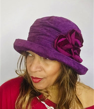 Antoinette (Blackcurrant & Burgundy), direct from the designer Peak and Brim Hats
