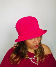 Sophie (Small Brim) - Cerise Pink, direct from the designer Peak and Brim Hats