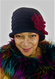 Rose – Black & Burgundy, direct from the designer Peak and Brim Hats