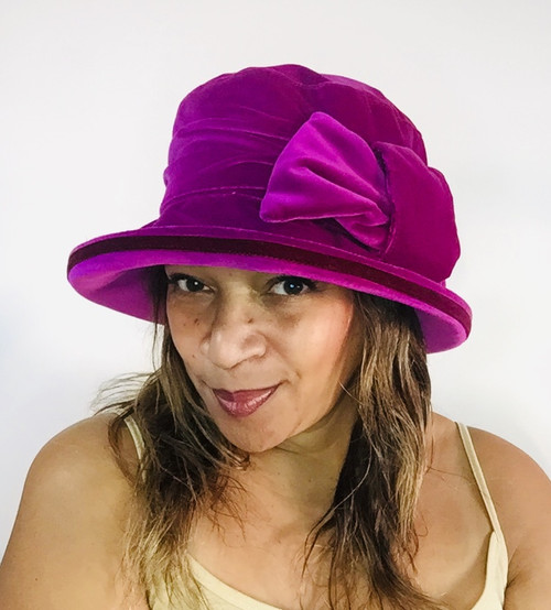 Mae - Cerise Pink, direct from the designer Peak and Brim Hats