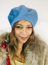 Berets – 002 – Cornflower Blue, direct from the designer Peak and Brim Hats