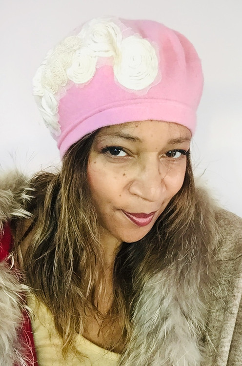 Berets – 003 – Baby Pink, direct from the designer Peak and Brim Hats