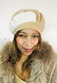 Berets – B006 – Beige, direct from the designer Peak and Brim Hats