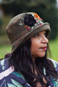 Peak and Brim Designer Hats -Clare - Red & Black - Direct from the Designer
