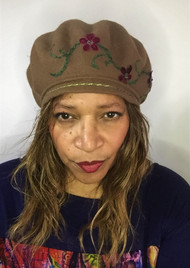 Peak and Brim Designer Hats - Berets – B034 – Latte - Direct from the Designer