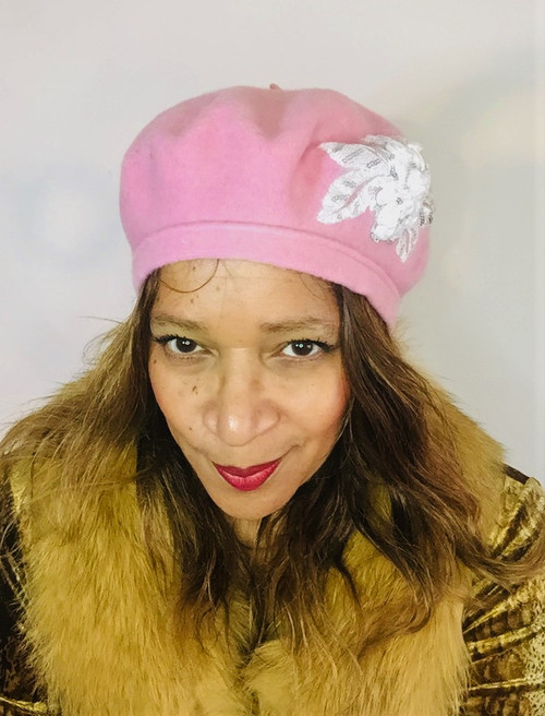 Berets – B042 – Baby Pink - Direct from the designer, Peak and Brim Designer Hats