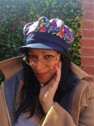Baker Girl - Floral & Navy, direct from the designer Peak and Brim Hats