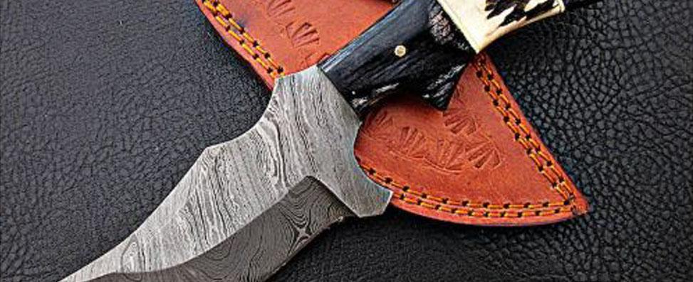 Custom handles using exotic woods, bone, antler