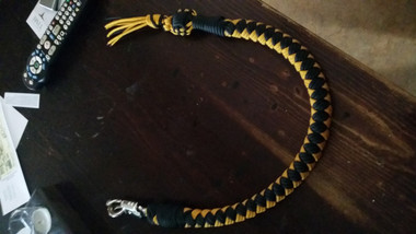 "This Get Back Whip features a 1 inch core for a thicker overall dimension and a 1"" steel ball."