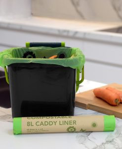 Kitchen Caddy & Compostable Liner