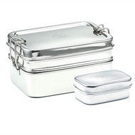 Large Double-Layer Rectangular Stainless Steel Lunchbox