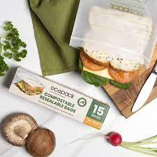 Compostable Resealable Sandwich Bags