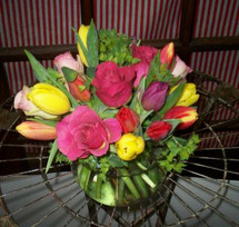 The Bloom Closet's Tulips + Roses = LOVE