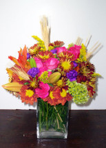 The Bloom Closet's Fall Color Cube. Vibrant Colors of Daisies, Roses, and fall accents!