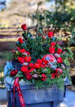 The Bloom Closet's Cremation Urn Flowers University of Georgia Flowers