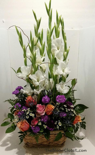 Tall Sympathy Basket from The Bloom Closet Florist in Martinez, GA