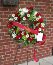 Red, White and Green Wreath