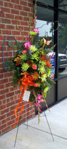 Assorted Fall Flowers from The Bloom Closet Florist. We deliver to local funeral homes in Grovetown, Evans and Martinez GA.